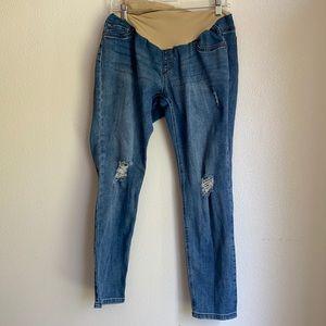 Indigo blue jeans maternity LG